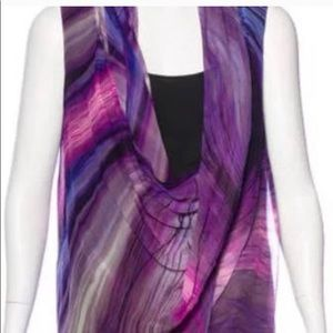 Elizabeth and James silk tie dye drape top